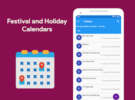 Calendar 2021 - Diary, Holidays and Reminders