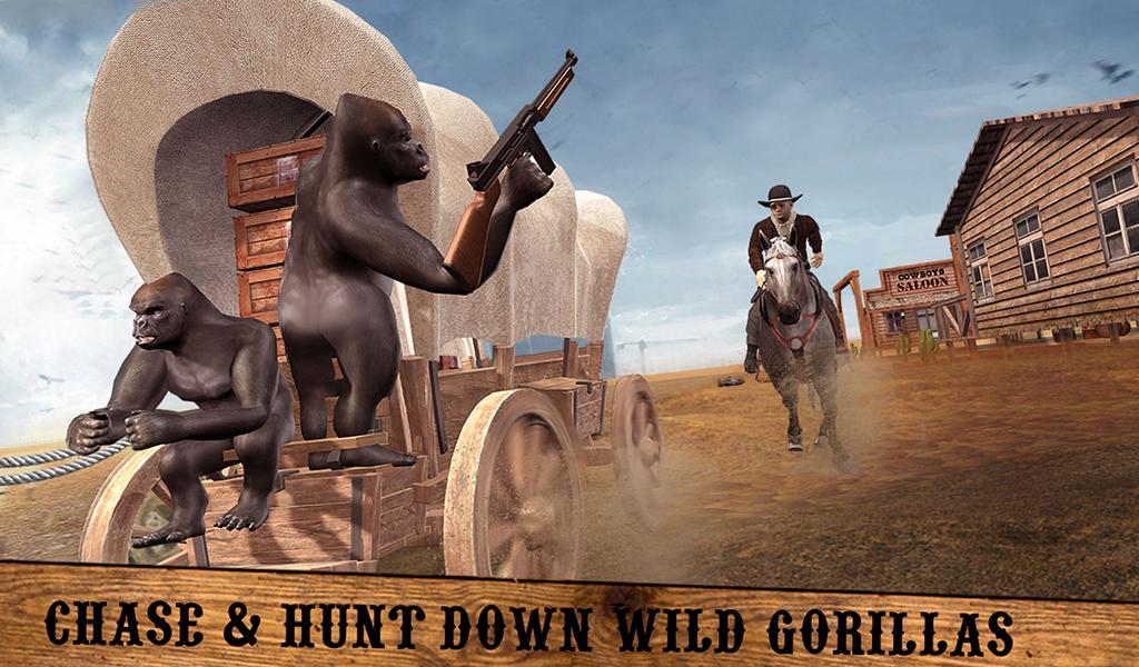 Captura de Pantalla 11 de Apes Age Vs Wild West Cowboy: Survival Game para android