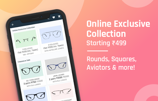 Lenskart: Eyeglasses, Sunglasses, Contact Lens App 3.0.7 screenshots 1