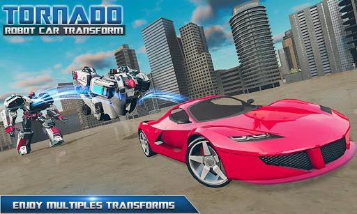 Tornado Robot Car Transform: Hurricane Robot Games 1.0.5 Screenshots 4