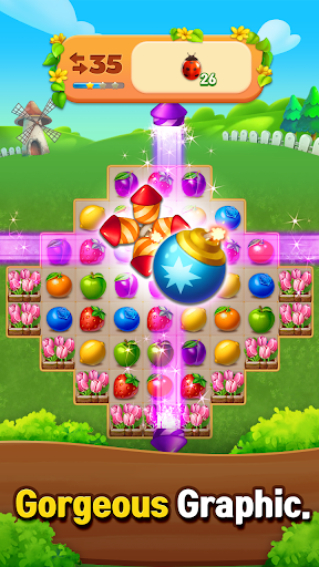 Fruits Farm: Sweet Match 3 games 1.1.0 screenshots 6