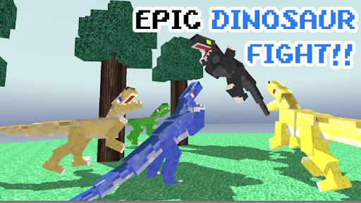 Blocky Dino Park: Raptor Attack apkdebit screenshots 4