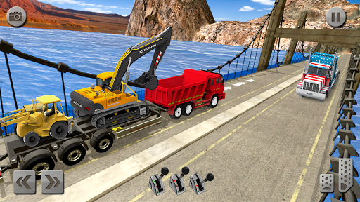 Sand Excavator Truck Driving Rescue Simulator game screenshots 2