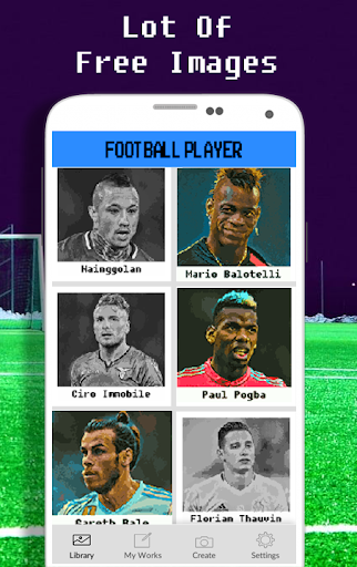 Football Player Coloring By Number - Pixel apkdebit screenshots 5