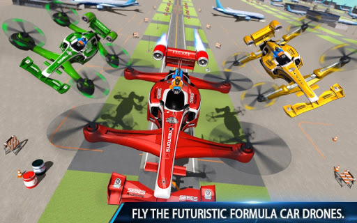 Flying Formula Car Games 2020: Drone Shooting Game apktram screenshots 11