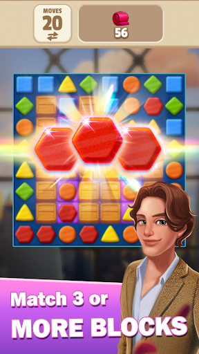 Code Triche Rachel's Diary - Match 3 Romance Puzzle Games (Astuce) APK MOD screenshots 4