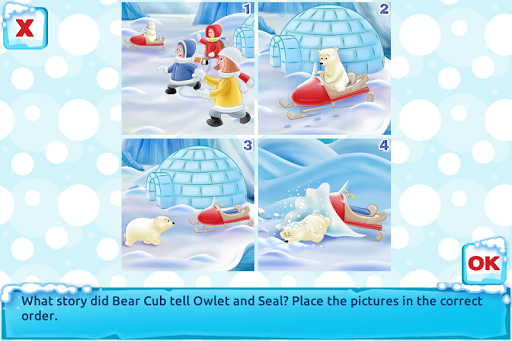 Polar Bear Cub - Fairy Tale with Games Free android2mod screenshots 4