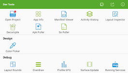screenshot of Dev Tools(Android Developer Tools) - Device Info