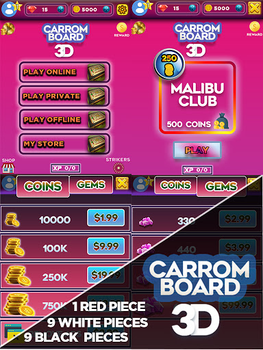 Carrom Board 3D: Online Multiplayer Pool Game 2021 apkpoly screenshots 7