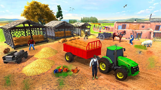 Farming Game 2021 - Free Tractor Driving Games screenshots 8