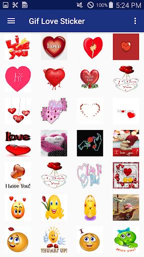 Gif Love Sticker screenshots 3
