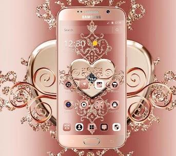 Rose Gold Diamond Heart Luxury Theme 1.1.2 Download Mod Apk 1