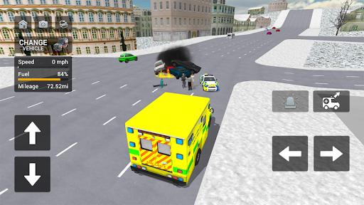 Ambulance Simulator - Car Driving Doctor apklade screenshots 2