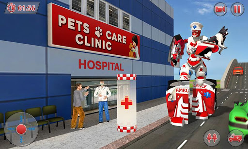 Ambulance Robot City Rescue Game apklade screenshots 2