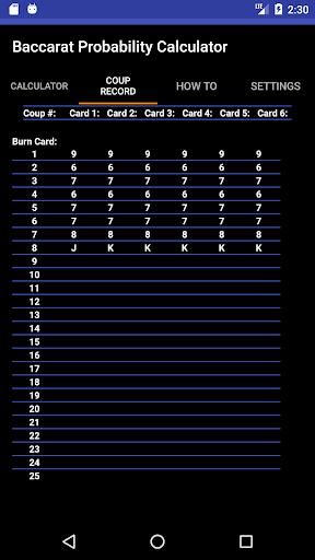 Baccarat Probability Calculator / u767eu5bb6u4e50u8ba1u7b97u5668 / ubc14uce74ub77c uacc4uc0b0uae30  screenshots 2
