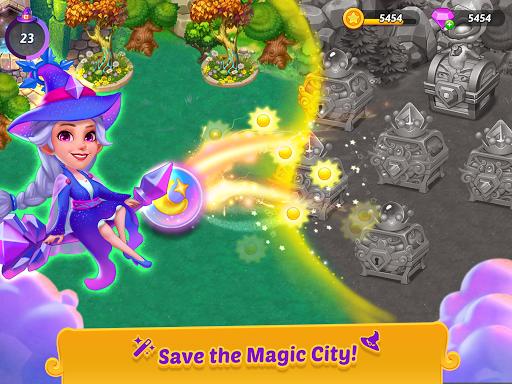 Merge Witches - merge&match to discover calm life Apkfinish screenshots 7