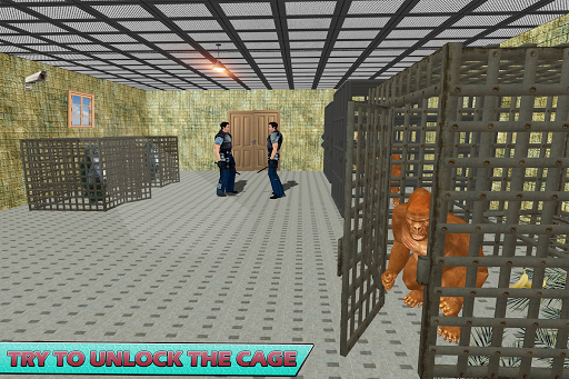 Gorilla Escape City Jail Survival screenshots 9