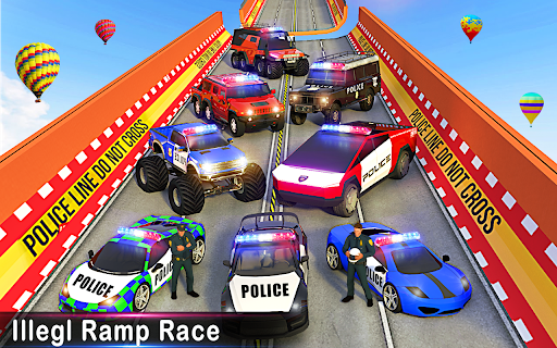 Police Car Racing Stunts 3D : Mega Ramp Car Games 3.8 screenshots 9