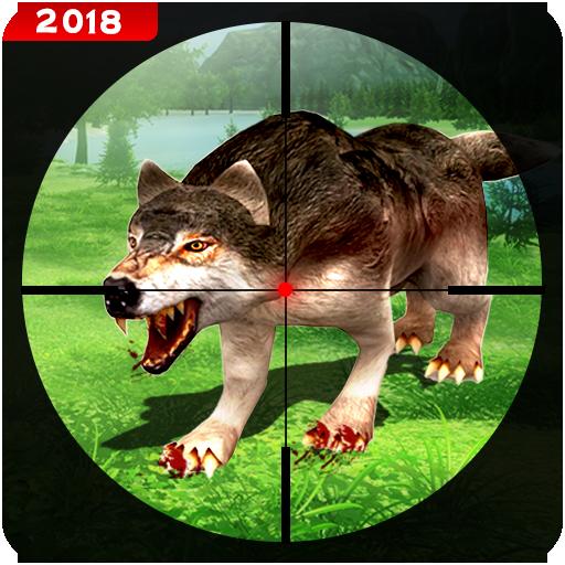 berburu liar serigala hewan penembak jitu 3d