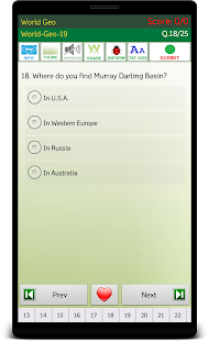 World Geography -eBook, Quiz