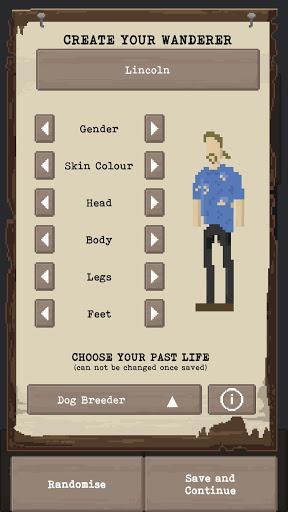 u2622 The Wanderer - Post-Apocalyptic RPG Survival  screenshots 1
