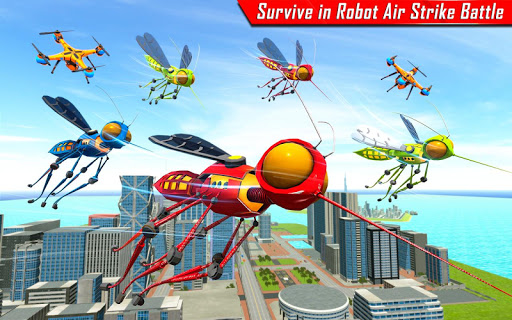 Mosquito Robot Car Game - Transforming Robot Games 1.0.8 screenshots 11