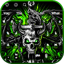 Gothic Metal Graffiti Skull Keyboard Theme