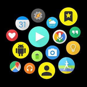 Bubble Cloud Widgets Folders for phonestablets 9.82w by DYNA Logix logo