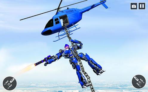 US Police Car Transform Robot War Rescue 2021 1.0.7 Screenshots 17