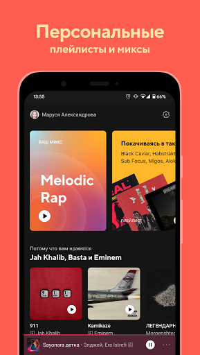 BOOM: музыкальный плеер screen 0