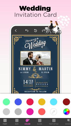 Invitation Maker Free - Birthday & Wedding Card apktram screenshots 4