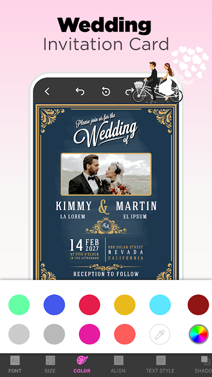 Invitation Maker - Birthday & Wedding Card Design poster 3