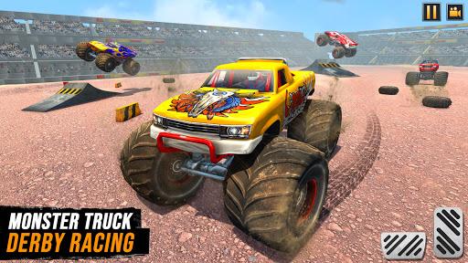 Real Monster Truck Demolition Derby Crash Stunts modiapk screenshots 1