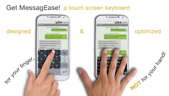 MessagEase Keyboard Screenshot