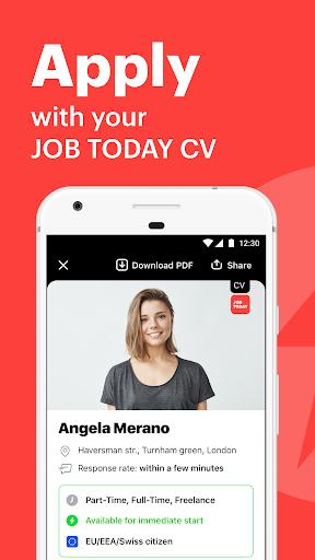 JOB TODAY: Find Jobs, Build a Career & Hire Staff apktram screenshots 1