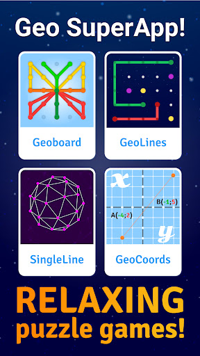 GeoBoard relaxing puzzle game drawing lines shapes https screenshots 1