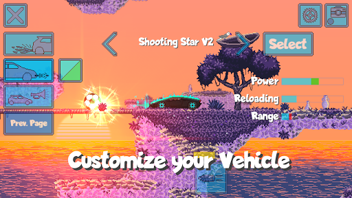 Pixel Boost League - 2D Rocket Powered Car Soccer screenshots 2