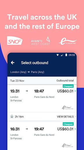 Trainline - Buy cheap European train & bus tickets apktram screenshots 3