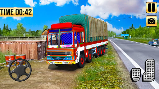 Indian Truck Simulator 2021: New Lorry Truck Games apkpoly screenshots 13
