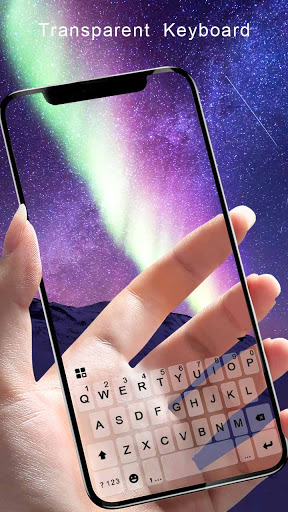 Transparent Galaxy Keyboard Background 1.0 screenshots 2
