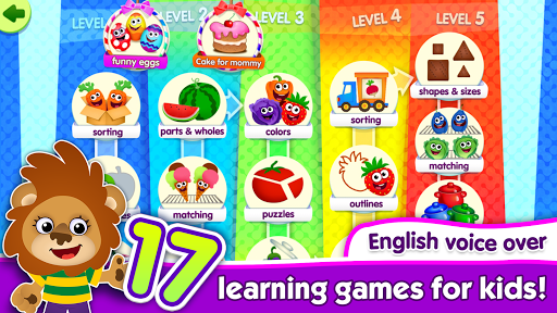 FunnyFood Kindergarten learning games for toddlers 2.4.1.19 Screenshots 1