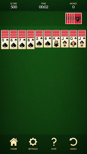 Spider Solitaire - Free Card Game 2.8 screenshots 1