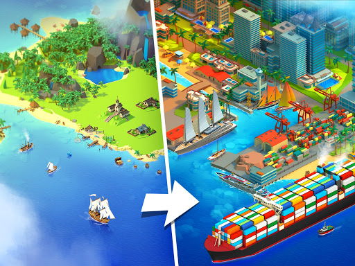Sea Port: Cargo Ship & Town Build Tycoon Strategy 1.0.135 apktcs 1