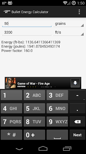 Bullet Energy Calculator For PC Windows (7, 8, 10, 10X) & Mac Computer Image Number- 5