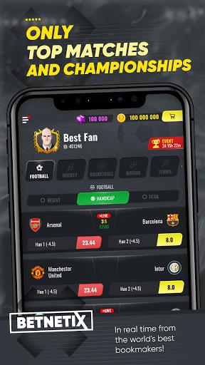 BetNetix - Sports Betting Game, Betsim with Odds 1.1.7.210228 screenshots 2