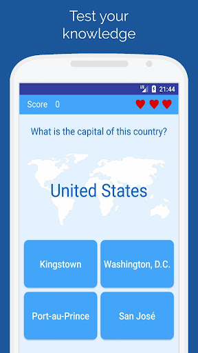 Capitals of the countries - Quiz  screenshots 1
