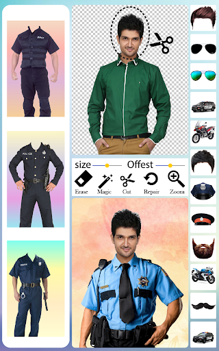 Men Police Suit Photo Editor android2mod screenshots 7