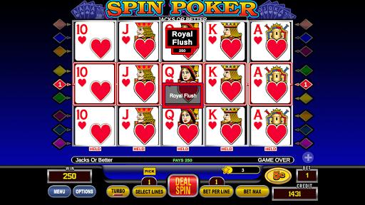 Spin Poker™ - Casino Free Deluxe Poker Slots Games 1.1.8 screenshots 1