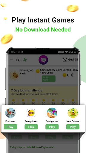 Earn Wallet cash, Free mobile Recharge & coins apktram screenshots 6