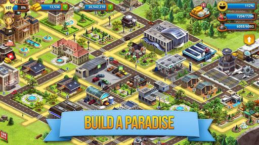 Tropic Paradise Sim: Town Building Game apklade screenshots 2